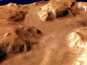 Región de Reull Vallis en Marte. / ESA/DLR/FU Berlin (G. Neukum)