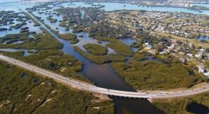"""Estas """"barreras verdes"""" naturales ayudan a proteger a las infraestructuras del litoral de esta parte de Florida contra inundaciones y tormentas severas. (Foto: NOAA)"""
