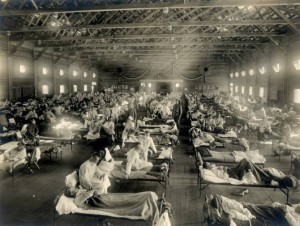 Imagen dantesca de un hospital de emergencia en Camp Funston, Kansas, Estados Unidos, durante la epidemia de gripe de 1918. (Foto: Otis Historical Archives, National Museum of Health & Medicine)