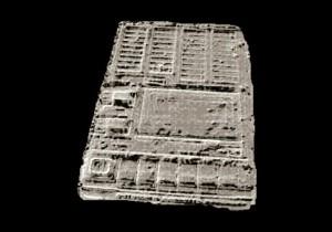 En un futuro lejano, las excavaciones paleontológicas en la Tierra hallarán más tecnofósiles humanos que fósiles de cualquier otro tipo. (Imagen: Recreación artística de tecnofósil, por Jorge Munnshe en NCYT de Amazings)